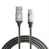 Muvit tiger cable USB a micro USB 2A 1.2m metal flexible gris