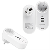 Muvit muvit transformador 2 USB+1 Tipo C PD + EU Plug 5V 4A 20W Carga inteligente blanco