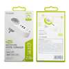 Muvit - muvit transformador 2 USB+1 Tipo C PD + EU Plug 5V 4A 20W Carga inteligente blanco
