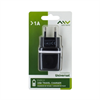 Myway Transformador USB 1A (sin cable) Negro myway