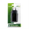 Myway Transformador USB 2A (sin cable) Negro myway