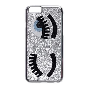 No Existe - Carcasa plateada ojos para Apple iPhone 7