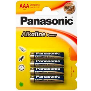 Panasonic Bronze Pila Alcalina Aaa Lr03 Blister*4