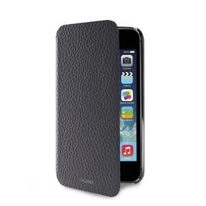 d943c5ae39b Puro - Funda Piel Wallet Gris + Tarjetero Apple iPhone 5/5S/SE Puro