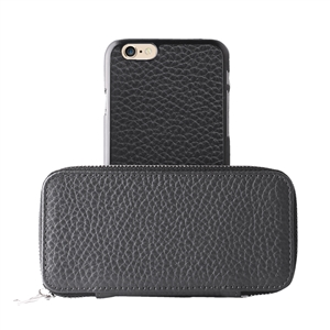 Puro - Funda Piel Cremallera + Carcasa Piel Apple iPhone 6 Puro Business