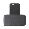 Funda Piel Cremallera + Carcasa Piel Apple iPhone 6 Puro Business