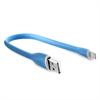 Cable Carga y Sincronización Silicona Azul Lightining MFI 2.4A 0.25 m Compatible Fast Charger Puro
