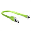 Cable Carga y Sincronización Silicona Verde Lightining MFI 2A 0.25 m Compatible Fast Charger Puro