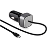 Mini Cargador Coche Negro Micro USB 2A Qualcomm QC 3,0 Puro