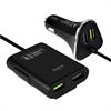 Cargador de Coche 2 USB + 2 Puertos USB Extra 6,8Amp 1,8m Puro