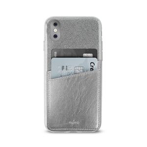 Puro - Carcasa Shine Pocket Plata Apple iPhone 8 Puro