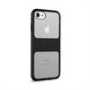 Carcasa Alta Protección Impact Pro Magnética Transparente y  Negra iPhone 6 6S 7 7s Puro