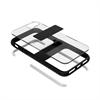 Puro - Carcasa Alta Protección Impact Pro Magnética Transparente y  Negra iPhone 6 6S 7 7s Puro