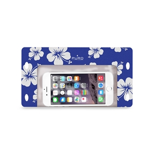 Puro - Funda Waterproof Hawai Azul hasta 5.7&quote; IPX8 Puro