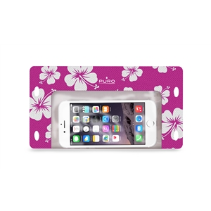 Puro - Funda Waterproof Hawai Rosa hasta 5.7&quote; IPX8 Puro
