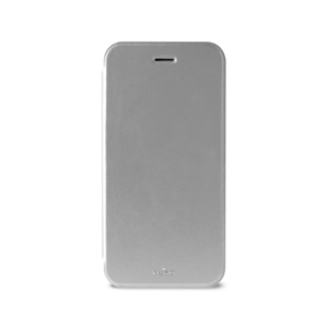 Puro - Funda Booklet Plata Carcasa Trasera Transparente y Tarjetero Apple iPhone 6 5.5&quote; Puro