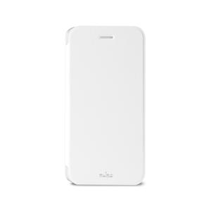 Puro - Funda Booklet Blanca Carcasa Trasera Transparente y Tarjetero Apple iPhone 6 5.5&quote; Puro