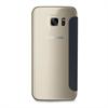 Puro - Funda Wallet Negra con Tarjetero y Trasera Negra Transparente Samsung Galaxy S7 Edge Puro