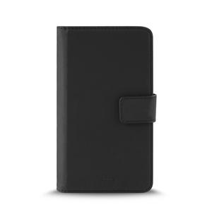 Puro - Funda Folio Universal Ajustable Negra Talla XL Cierre Imán 3 Tarjeteros y Bolsillo Lateral Puro