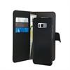 Funda Folio 2 en 1 Magnética Negra 3 tarjeteros + Billetero Samsung Galaxy S8 Puro