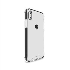 Puro - Carcasa Alta Protección Impact Pro Transparente y Negra Apple iPhone X Puro