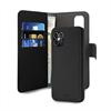 Puro funda piel Eco Apple iPhone 12/12 Pro + carcasa extraíble magnética negra