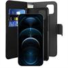 Puro funda piel Eco Apple iPhone 12 Pro Max + carcasa extraíble magnética negra