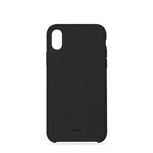 Puro - Puro funda silicona con microfibra Apple iPhone 9 icon negra
