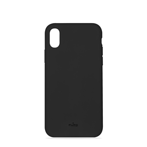 Puro - Puro funda silicona con microfibra Apple iPhone X Plus icon negra