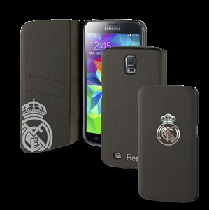 Funda folio negra escudo platasamsung galaxy s5 real madrid - Fundas del real madrid ...