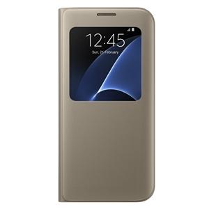 Samsung - Funda S View Cover Oro Samsung Galaxy S7 Edge Samsung