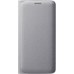 Samsung - Funda Flip Wallet Tela Plata Samsung Galaxy S6 Samsung