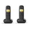 Teléfono Inalámbrico Gigaset A170 Duo Negro Siemens