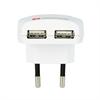 Skross Cargador de viaje USB Dual 2.4A para Europa blanco SKROSS