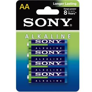 Sony Blue Pila Alcalina Aa Lr6 Blister*4