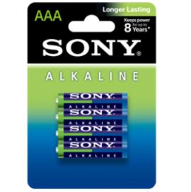 Sony Blue Pila Alcalina Aaa Lr03 Blister*4