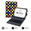 """Subblim Keytab funda tablet con teclado USB Micro USB C 10,1"""" Squares"""