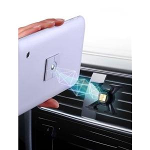 Tetrax - Soporte coche universal XWAY para rejilla de aire para dispositivos táctiles de hasta 7,9&quote; /400 gram