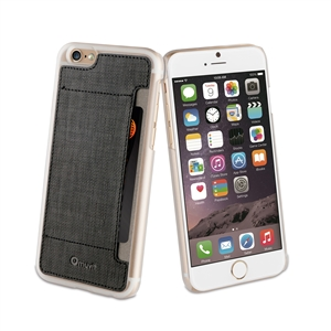 -Varios de Fundas- - Carcasa Transparente + Tarjetero Negro Apple iPhone 6 Plus muvit