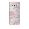 White Diamonds Swarovski - Carcasa Camuflaje Rosa Traslúcida para Samsung Galaxy S8 Whiite Diamonds