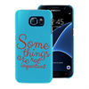 Funda TPU Tacto Goma Azul Some Things Samsung Galaxy S7 Words