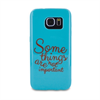 Words - Funda TPU Tacto Goma Azul Some Things Samsung Galaxy S7 Words