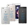 Funda TPU Transparente Niégalo Huawei P8 Lite Words