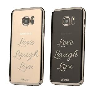 Words - Funda TPU Love laugh Live Samsung Galaxy S7 Edge Words