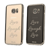 Funda TPU Love laugh Live Samsung Galaxy S7 Edge Words