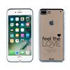 Funda TPU Transparente Feel the Love Apple iPhone 7 Plus Words