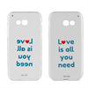 Words Funda TPU Transparente Love isall you need Samsung Galaxy A5 2017