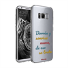 Funda TPU Transparente Sonrisa Nueva Samsung Galaxy S8 Words