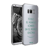 Funda TPU Transparente Sonríe Samsung Galaxy S8 Plus Words