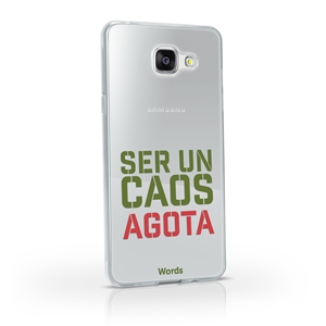 Words - Funda TPU Transparente Caos Samsung Galaxy A5 2017 Words